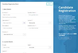 PMKVY Online Registration