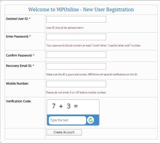 MPONLINE LOGIN,ITI MP ONLINE,APSU mponline,MPBSE,MPOnline Login 2020