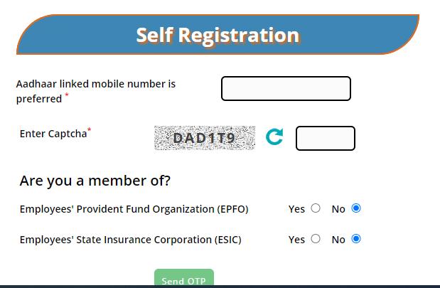 Eshram Card Self Registration